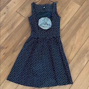 H&M black and white polka dot dress